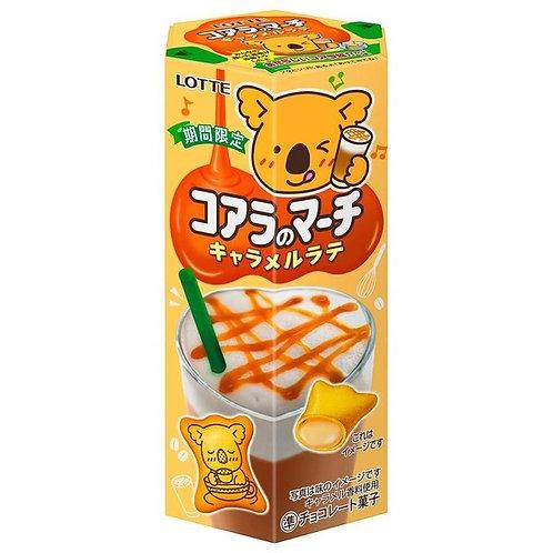 F13741 Lotte 樂天日版焦糖咖啡味熊仔餅 48g (3pcs)