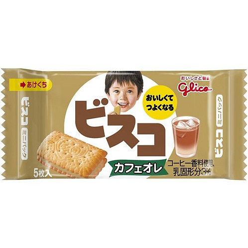F13930 Glico 固力果 Bisco 兒童咖啡味夾心餅 5 枚入 20pcs
