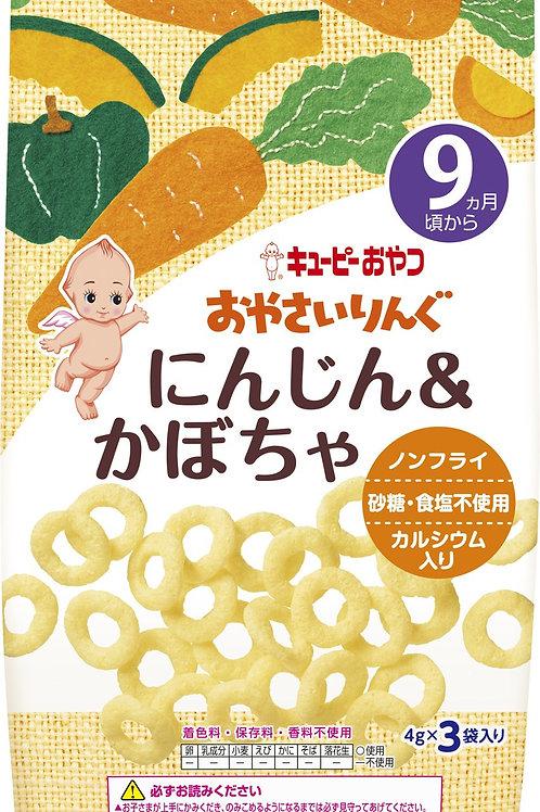 F14000 Kewpie 丘比蔬菜圈圈小食 - 胡蘿蔔南瓜味 ( 9個月以上嬰孩適用 ) 4gx3
