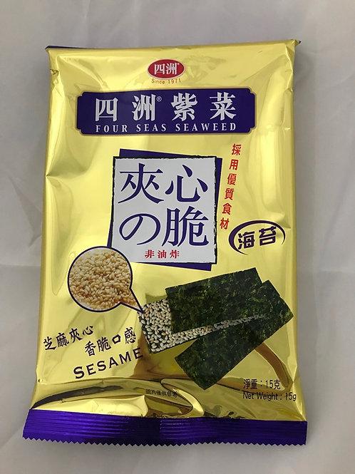 FS0197 四洲紫菜夾心脆 ( 芝麻 ) 15g