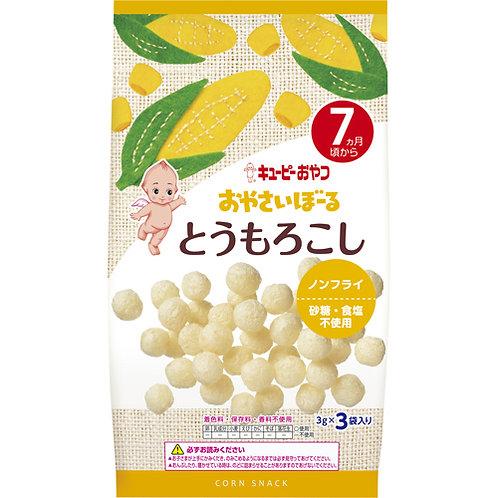 F13994 Kewpie 丘比波波小食 - 粟米味 ( 7個月以上嬰孩適用 ) 3gx3