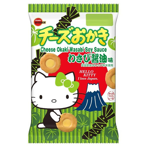 F14032 BOURBON百邦 Hello Kitty 芥末醬油芝士米餅 19's