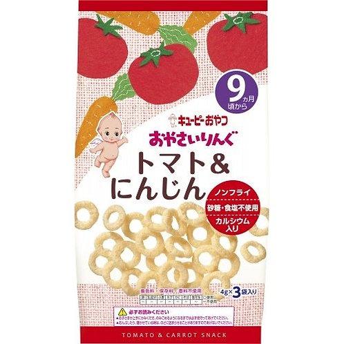 F13999 Kewpie 丘比蔬菜圈圈小食 - 蕃茄胡蘿蔔味 ( 9個月以上嬰孩適用 ) 4gx3