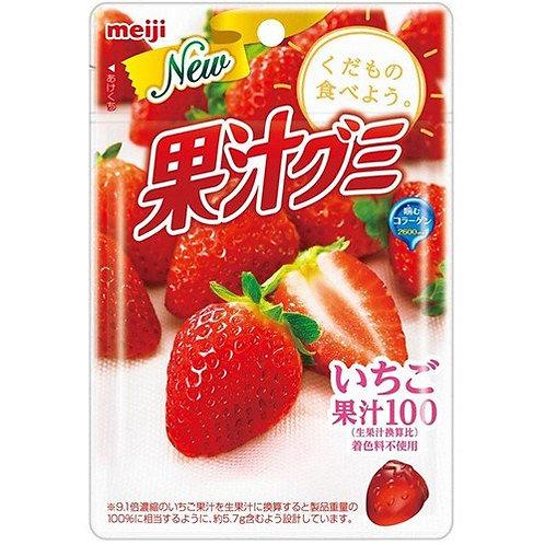 F8751 Meiji 明治草莓果汁100軟糖 51g