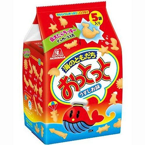 F13824 Morinaga 森永家庭裝魚仔餅 5 袋入 90g