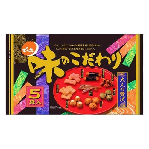 F13030 Denroku 伝六味米菓魚仔送酒小食 5 袋入 120g 12x2
