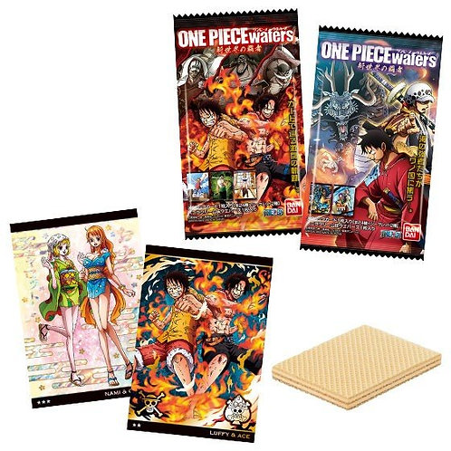 F13898 Bandai One Piece 卡通咭威化 1's 3pcs