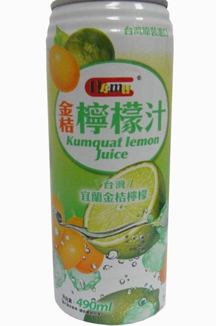 AJI338Hamu 金桔檸檬汁飲料 490ml