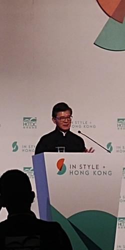 香港貿發局主席羅康瑞於開幕禮致詞