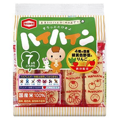 F10899 龜田嬰兒 4 種野菜米餅 (適合 7 個月以嬰兒) 53g