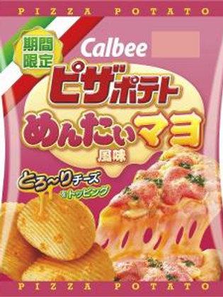F13542S Calbee 卡樂B 明太子比薩波浪薯片 60g (2件裝)