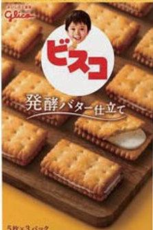 F9519 Glico 固力果Bisco發酵牛油夾心嬰兒餅 15's 3pcs