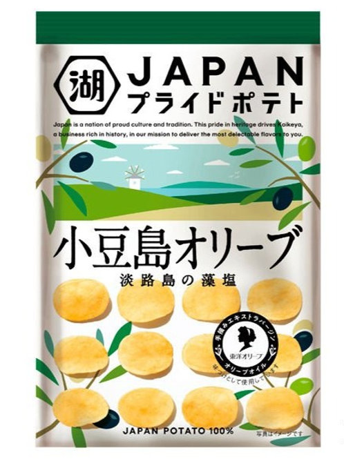 F14174 Koikeya 湖池屋小豆島橄欖油薯片 58g 2pcs
