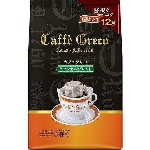 F14214 UCC Café Greco 古典滴漏咖啡 5 杯裝 60g
