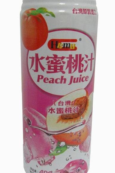 AJI340Hamu 水蜜桃汁飲料 490ml