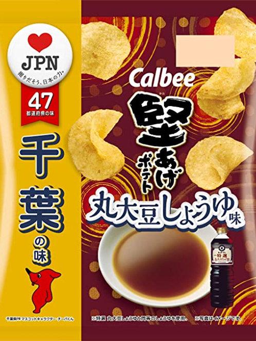 F14151 Calbee 卡樂B 千葉丸大豆醬油味薯片 58g 12pcs