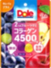 F12223 不二家 Dole 兩種水果膠原蛋白軟糖 75g 8x12