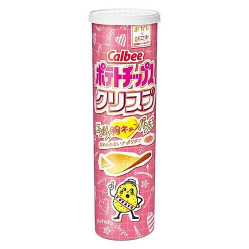 F13884 Calbee 卡樂B 上湯味薯片 (大筒裝) 110g 2pcs