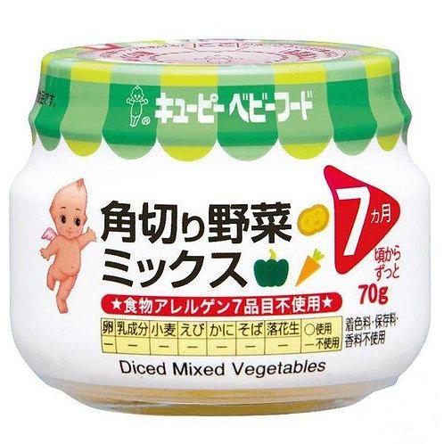 F14212 Kewpie 丘比嬰兒食品 - 角切什菜 (7 個月起) 瓶裝 70g 3pcs