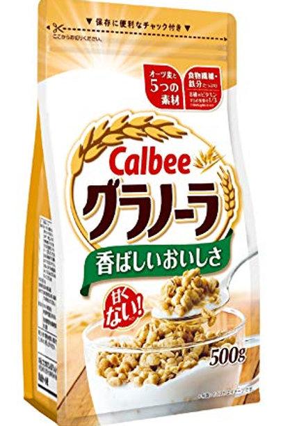 F13068  Calbee 卡樂B 即食穀麥早餐 (唔甜) 500g