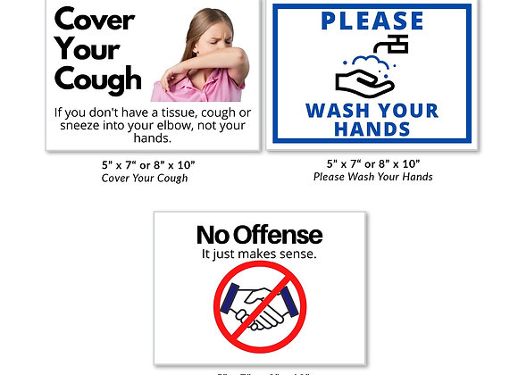 "10 Pack, 8"" x 10"" Safety Labels"