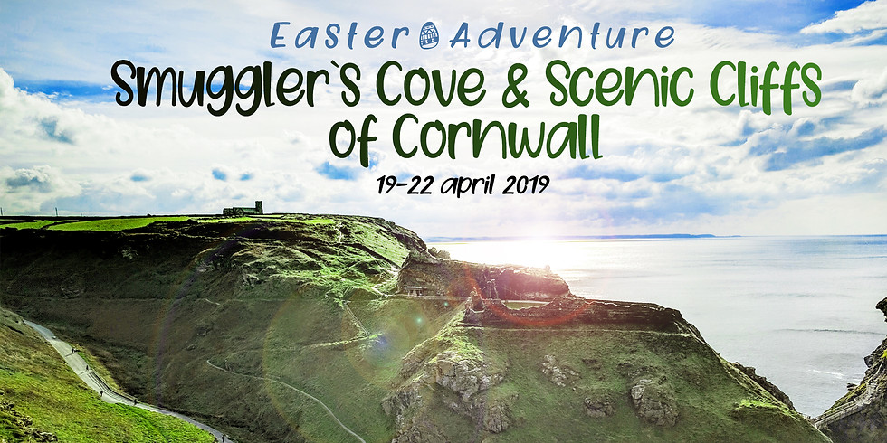 Smuggler`s Cove & Scenic Cliffs of Cornwall-Easter Adventure