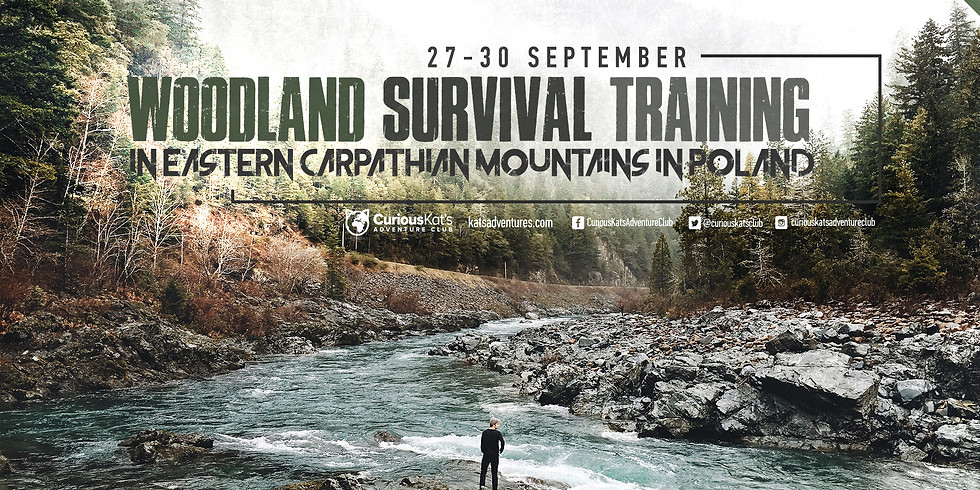 Woodland Survival Training In Eastern Carpathian Mountains In Poland