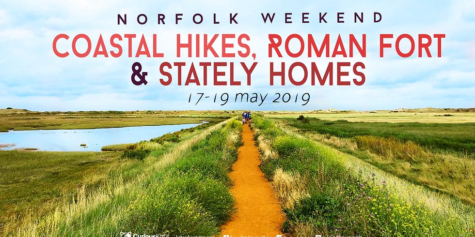 Norfolk Weekend: Coastal Hikes Roman Fort & Stately Homes!