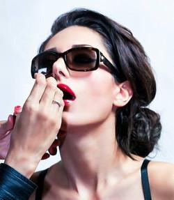 make-up lipstick _fashion week scene