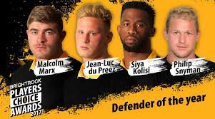 Vote for Siya Kolisi in the Brightrock Players Choice Awards 2017