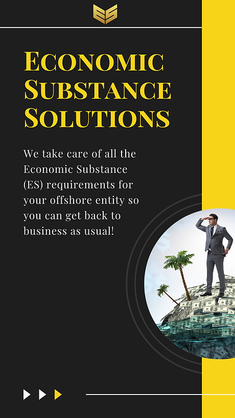 Economic Substance Solutions Overview