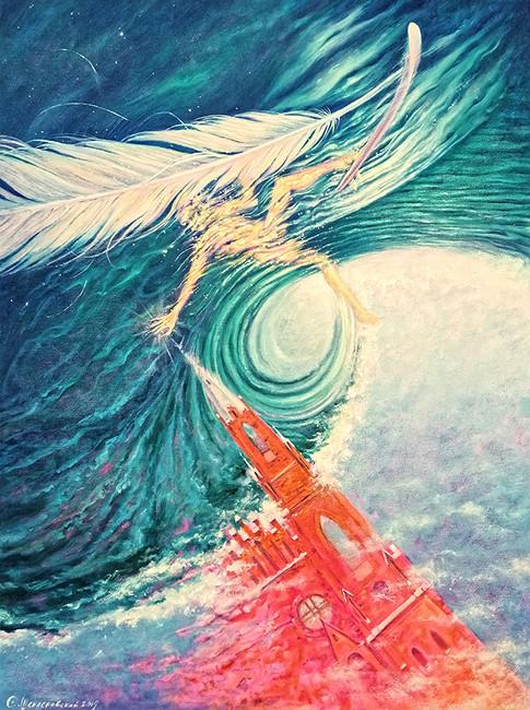 Сон Сергиса Шендераускаса фон Цеппелинского в котором сёрфингующий Ангел инициирует Собор Святого Апостола Ёкубуса