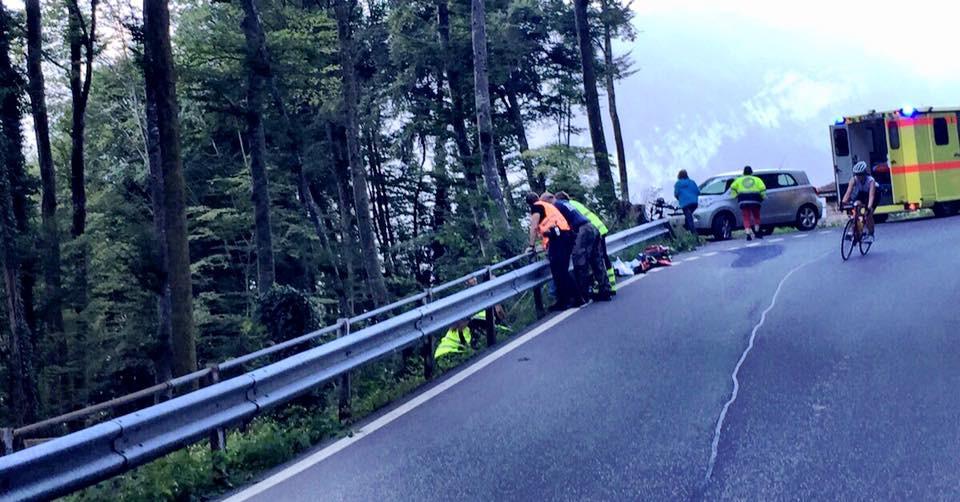 Unfallstelle kurz vor Interlaken