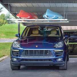 Roo Rack - Double holding two kayaks in carport