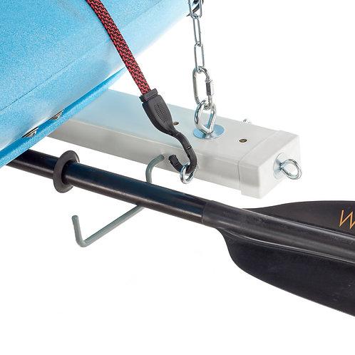 Rubber Coated Screw-In Oar/Paddle Hooks (Set of 2)