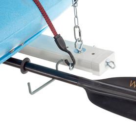Optional oar/paddle hooks with paddle