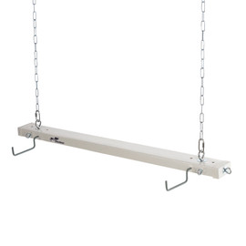 White Roo Rack - Single with optional oar/paddle hooks