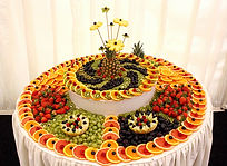 Fruit display table hire rental supplier