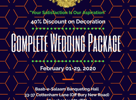 40% Discount on all decoration