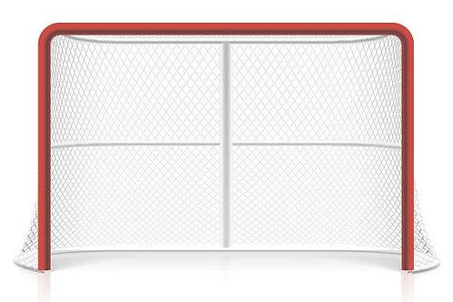 Сетка для хоккея с шайбой 1.25мХ1.85мХ1.35м, ПА40х2 (комплект 2шт)
