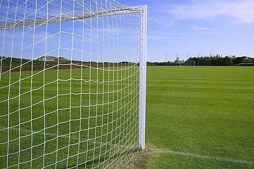 Сетка футбольная 2,5* 7,5* 2,0 м, 100х100, полипропилен 5,0 мм (комплект 2 шт.)