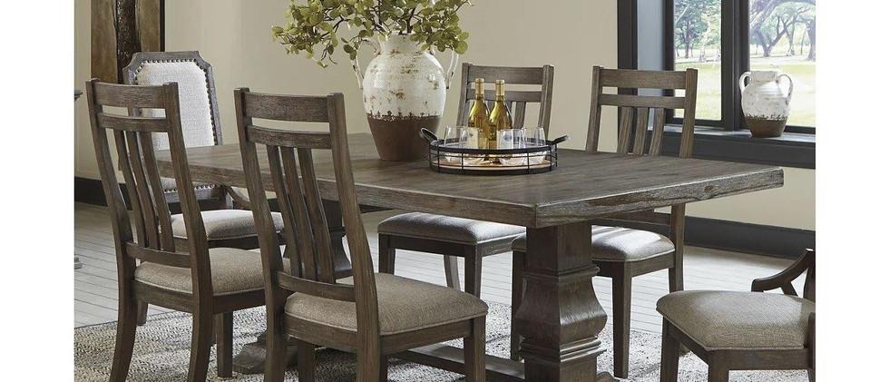 Ashley - Wyndahl Rustic Brown Extendable Dining Table d813.jpg