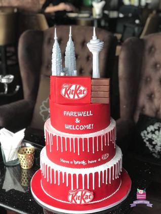 Nestle Kit Kat 3 tier cake