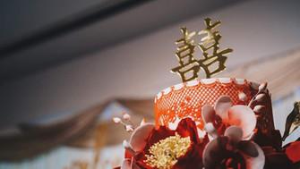 Oriental Gold wedding cake