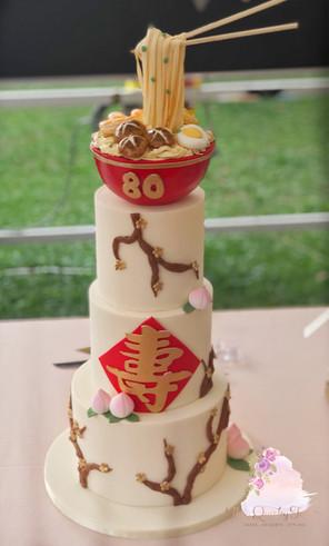 Longevity Birthday cake