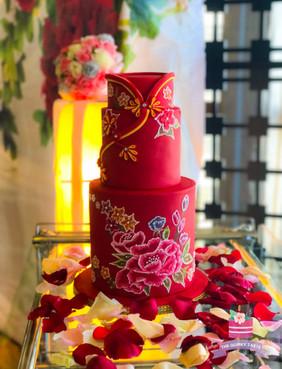 Oriental Theme Wedding Cake