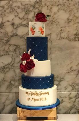 5 tier designer wedding cake