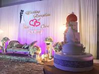 3 tier butterfly wedding cake
