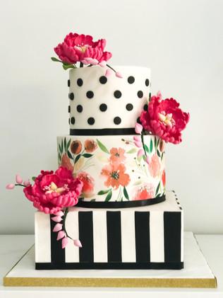 Kate Spade Inspired Wedding Cake