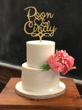 Simple 2 tier wedding cake